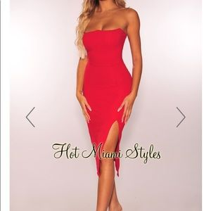 Strapless Red Dress